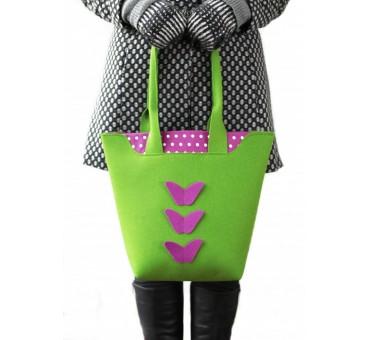 Velika torba iz filca - zelena