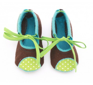 Baby Wool Felt Slippers - BROWN