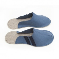 Men's Wool Felt Slippers - JEANS