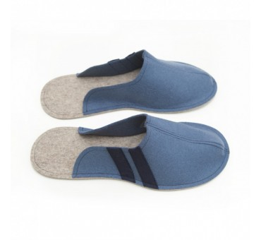 Men's Wool Felt Slippers JEANS