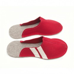 Men's Wool Felt Slippers - RED