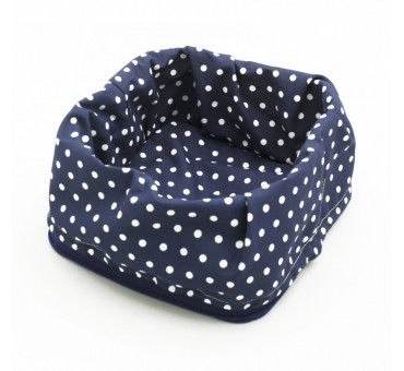 Bread Basket - Dotty Navy