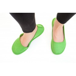 Women's Wool Felt Slippers - Ballerina GREEN G