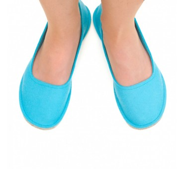 Women's Wool Felt Slippers - Ballerina BLUE