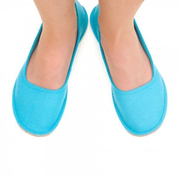 30f8d1bc9f6 Women s Wool Felt Slippers - Ballerina BLUE