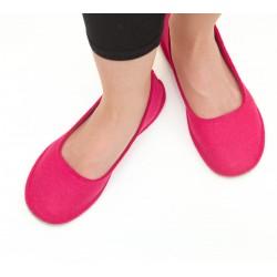 Women's Wool Felt Slippers - Ballerina PINK G