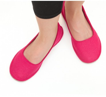 Women's Wool Felt Slippers - Ballerina PINK