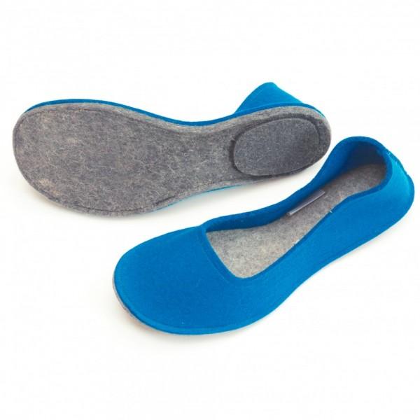 dae7a2b45dc Women s Wool Felt Slippers - Ballerina ELECTRIC BLUE