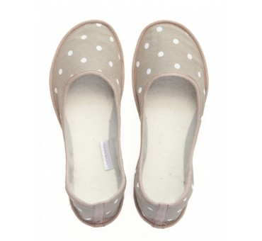 Ballerinas Dotty Beige (Custom Order)