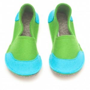 f8da1770d991 School Kids Wool Felt Slippers - GREEN Boy