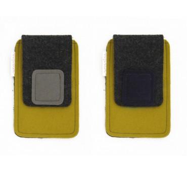 Wool Felt Smartphone Case - M-MUSTARD