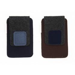Torbica za manjši pametni telefon - temna (moški)