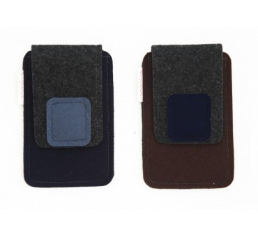 Small Smartphone Wool Felt Case - M-DARK