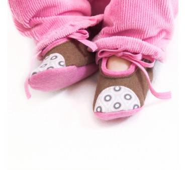 Baby Wool Felt Slippers - LIGHT BROWN (new)