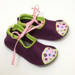 Kids Wool Felt Slippers - VIOLA (new)