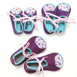 Kids Wool Felt Slippers - VIOLET