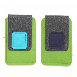 Small Smartphone Wool Felt Case - GREEN - LAST ONE
