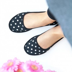 Ballerina Flats Essential - DOTTY BLACK