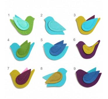 Bird Pin - BLUE
