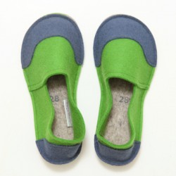 School Kids Wool Felt Slippers - GREEN JEANS Boy (28)