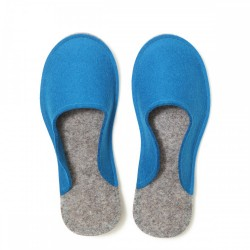 Women's Wool Felt Slippers - Minimal BLUE
