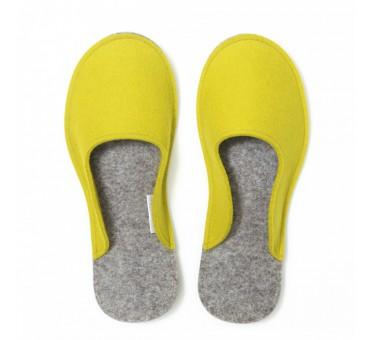 Women's Wool Felt Slippers - YELLOW Minimal