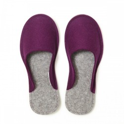 Women's Wool Felt Slippers - Minimal VIOLET