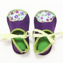 Kids Wool Felt Slippers - VIOLET (18) - LAST ONE