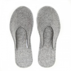 Women's Wool Felt Slippers - Natur LIGHT GREY