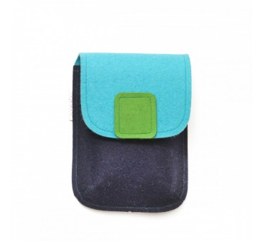 PocketBag - Wool Felt Bag - BLUE JEANS GREEN