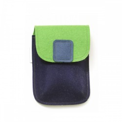 PocketBag - Wool Felt Bag - BLUE GREEN