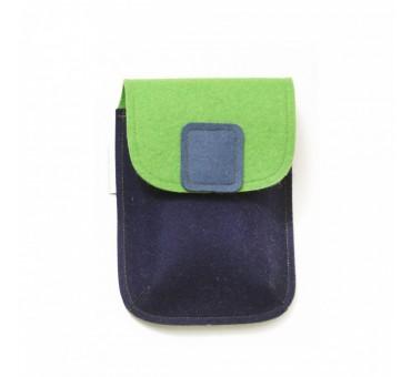 PocketBag - Wool Felt Bag - BLUE GREEN