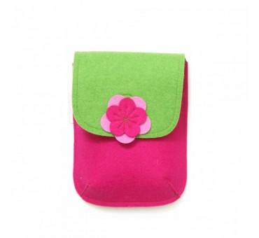 PocketBag - Wool Felt Bag - PINK GREEN