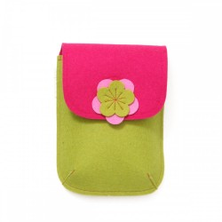 PocketBag - Wool Felt Bag - MUSTARD PINK