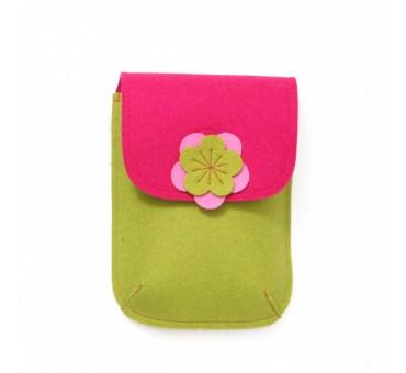 PocketBag - Wool Felt Bag - MUSTARD PINK