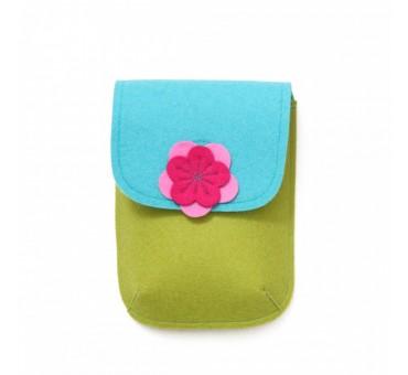 PocketBag - Wool Felt Bag - MUSTARD TURQ