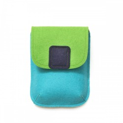 PocketBag - Wool Felt Bag - TURQ GREEN NAVY