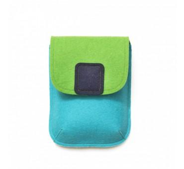 PocketBag - Wool Felt Bag - TURQ GREEN NAVY