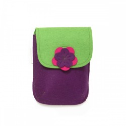 PocketBag - Wool Felt Bag - VIOLET GREEN