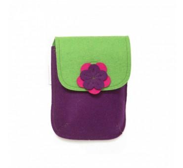 PocketBag - Wool Felt Bag - VIOLET GREEN