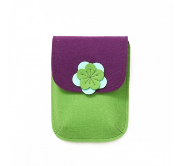 PocketBag - Wool Felt Bag - GREEN VIOLET