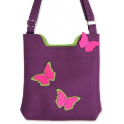 Wool Felt Bag - Viola Butterfly