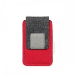 Torbica za manjši pametni telefon - RDEČA SIVA