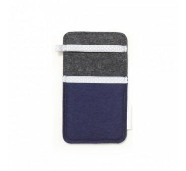 Žep za manjši pametni telefon - MODRA SIVA II