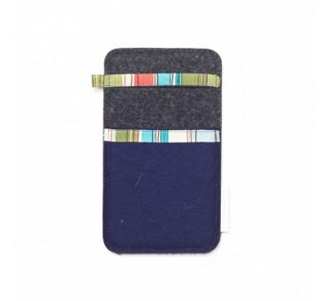 Žep za manjši pametni telefon - MODRA SIVA