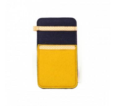 Žep za manjši pametni telefon - RUMENA MODRA