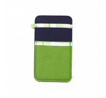 Žep za manjši pametni telefon - ZELENA MODRA
