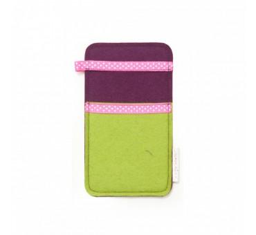 Žep za manjši pametni telefon - ZELENA ROZA PIKE
