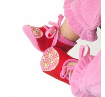 Baby Wool Felt Slippers - RED