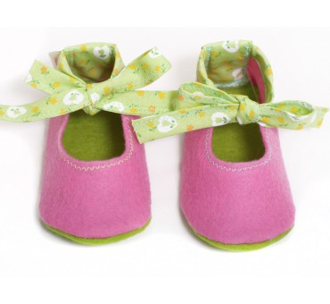 Baby Wool Felt Slippers - PINK